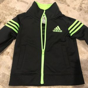 Adidas black lime jacket 12 months